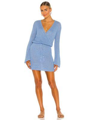 Пляжное синее вечернее платье с декольте L*space