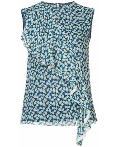 Синяя блузка прямая Jason Wu
