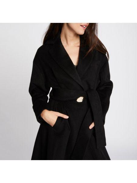 Длинное пальто шерстяное с воротником Morgan