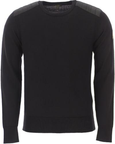 Bawełna bawełna z rękawami czarny sweter Belstaff