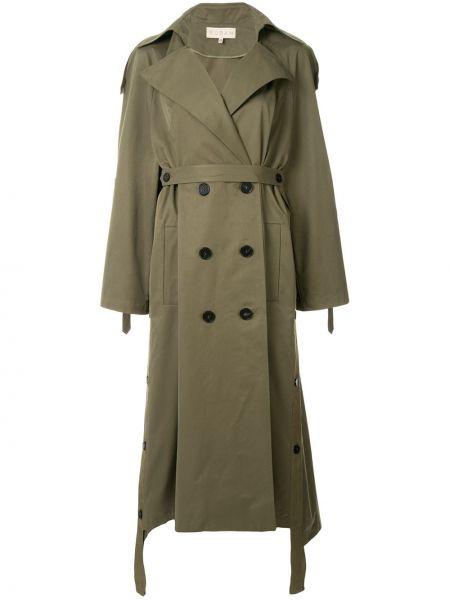 Зеленое нейлоновое свободное пальто классическое свободного кроя Ruban