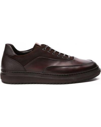Коричневые кожаные кроссовки Franceschetti