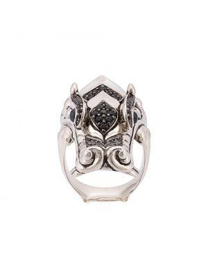 Золотистое кольцо золотое c сапфиром John Hardy
