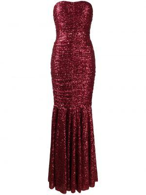 Вечернее платье с пайетками на молнии Dolce & Gabbana
