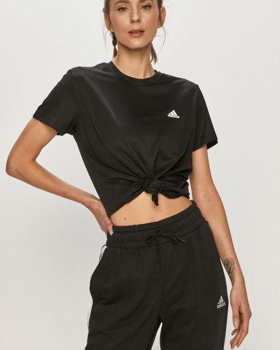 Czarny top sportowy Adidas
