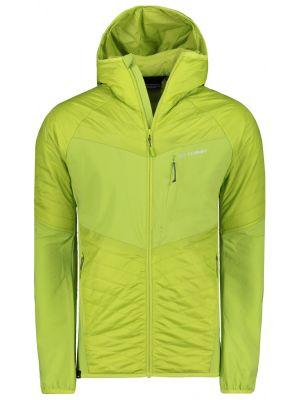 Zielona kurtka sportowa z kapturem materiałowa Trimm