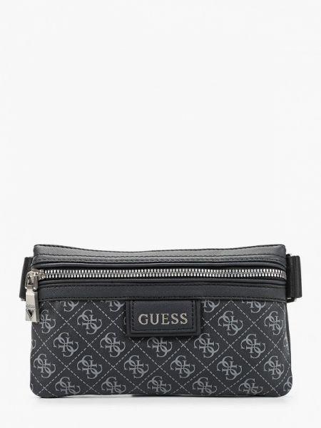 Черная поясная сумка Guess