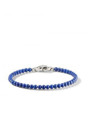 Niebieska bransoletka srebrna David Yurman