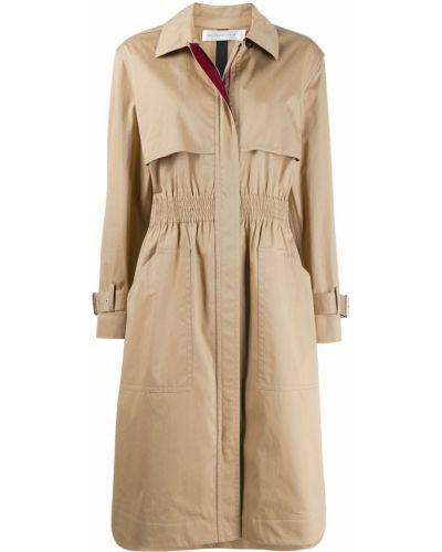 Коралловое пальто классическое с воротником из верблюжьей шерсти Victoria Beckham