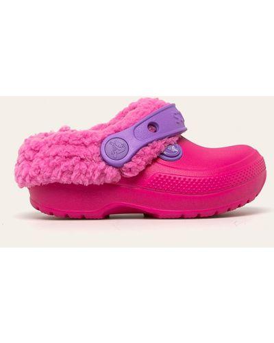 Босоножки розовый текстильные Crocs