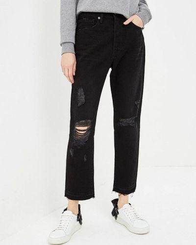 Черные джинсы с высокой посадкой Frame
