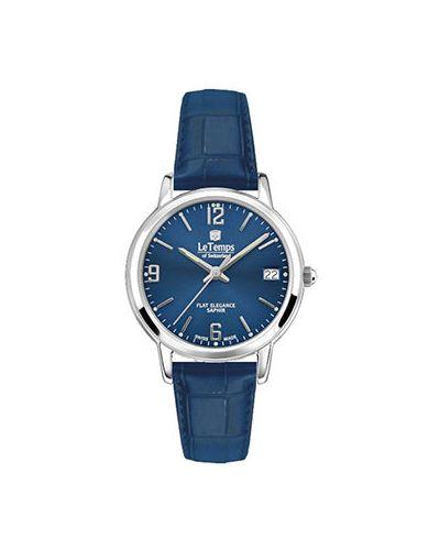 Кварцевые часы - синие Le Temps