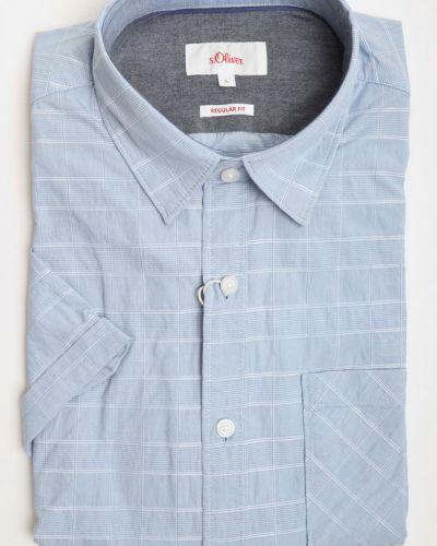 Хлопковая рубашка с коротким рукавом S.oliver