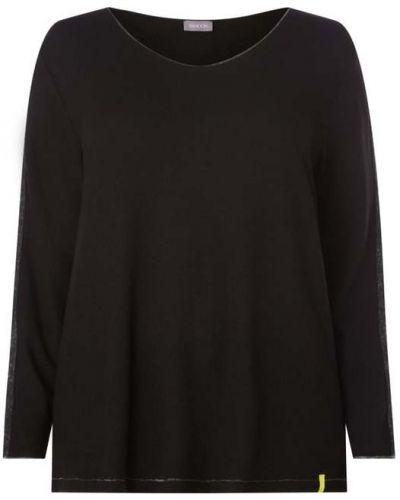 Czarny sweter w paski z wiskozy Samoon