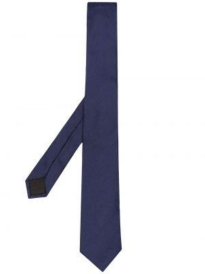 Синяя шелковая резинка для волос свободного кроя Moschino