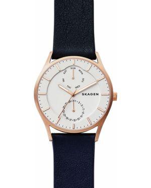 Zegarek niebieski złoto Skagen