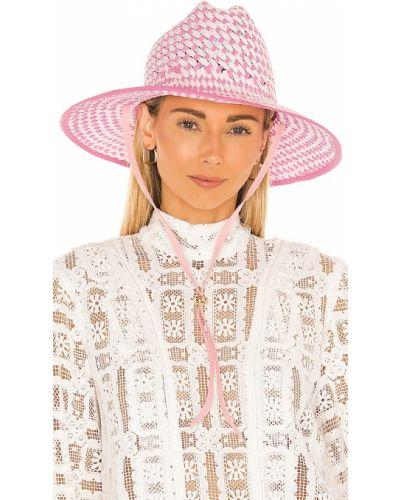 Różowy kapelusz Lele Sadoughi