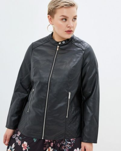 Кожаная куртка черная осенняя Dorothy Perkins Curve