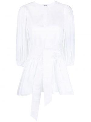 Хлопковая белая блузка с V-образным вырезом P.a.r.o.s.h.