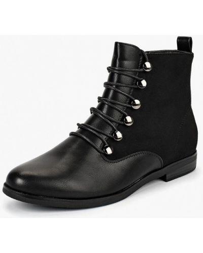 Кожаные ботинки осенние на каблуке Super Mode