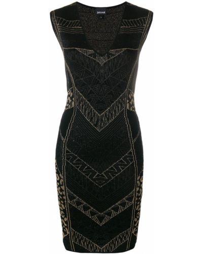 Платье с узором приталенное Just Cavalli