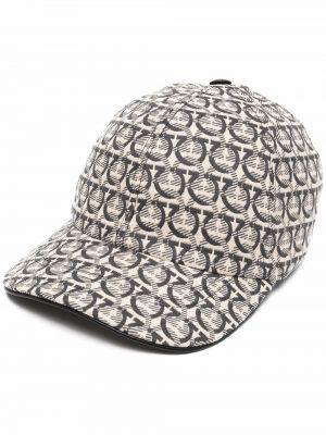 Beżowa czapka bawełniana Salvatore Ferragamo