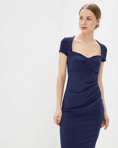 Вечернее платье весеннее синее City Goddess