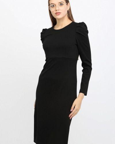 Платье миди осеннее черное Lea Vinci