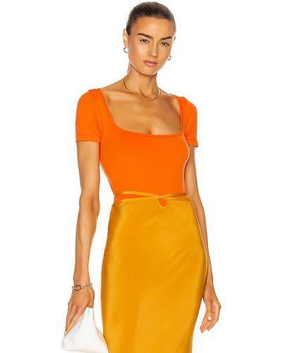 Pomarańczowy body z nylonu Simon Miller