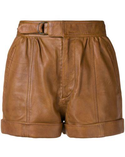 Коричневые короткие шорты с карманами Zadig&voltaire