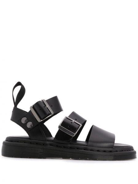 Sandały skórzany z klamrami Dr. Martens