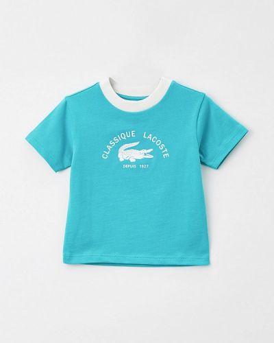 Бирюзовая футболка с короткими рукавами Lacoste