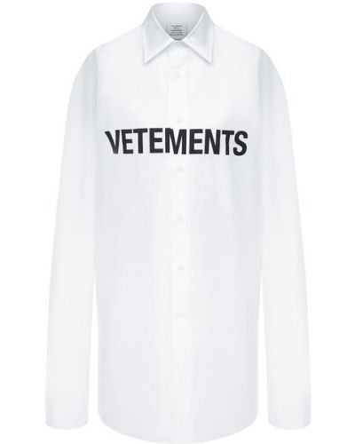 Хлопковая белая блузка Vetements