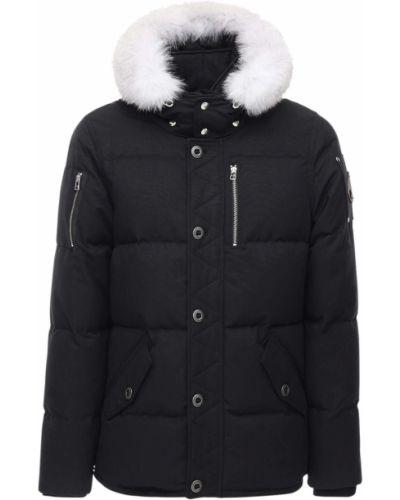 Куртка с капюшоном - черная Moose Knuckles