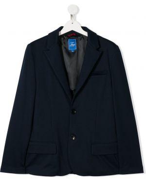 Темно-синий удлиненный пиджак Fay Kids