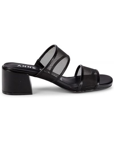 Сандалии на каблуке - черные Anne Klein