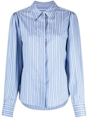 Шелковая белая классическая рубашка в полоску Isabel Marant