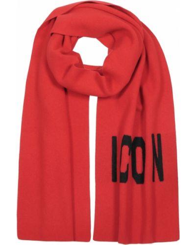 Czerwony szalik Dsquared2