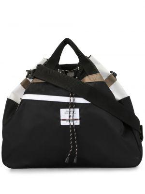 Черная нейлоновая сумка на плечо с завязками с карманами As2ov