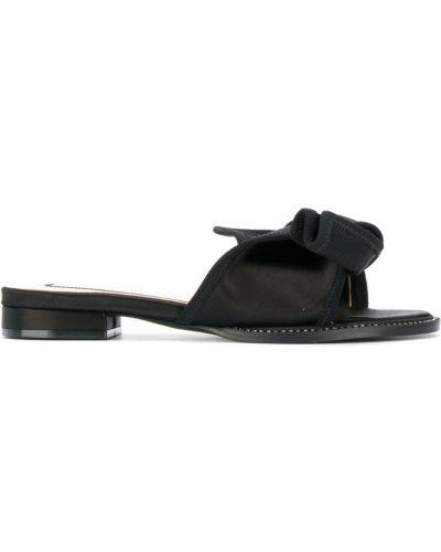 Мюли на каблуке черный N21
