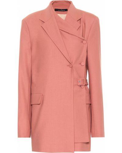 Розовый классический пиджак с подстежкой Rokh