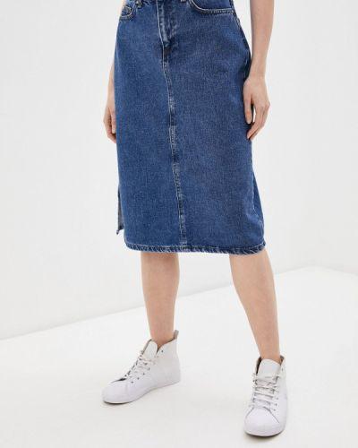 Джинсовая юбка - синяя Trendyol