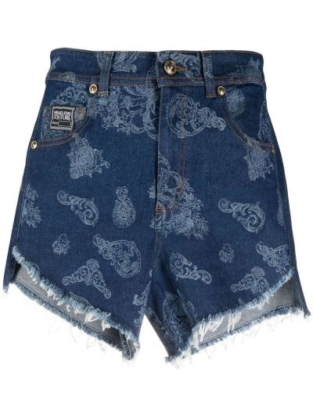 Джинсовые шорты классические - синие Versace Jeans Couture
