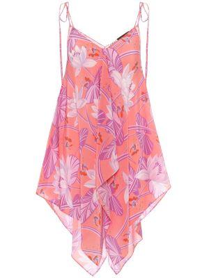 Платье розовое шелковое Loewe