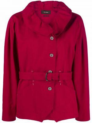 Красная хлопковая куртка Isabel Marant