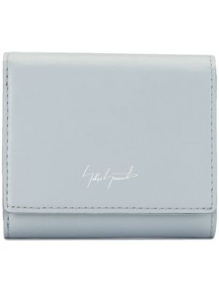 Серый кошелек с карманами на кнопках со шлицей Discord Yohji Yamamoto