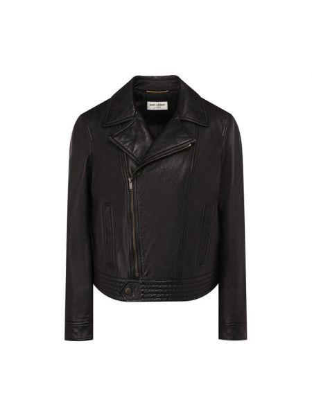 Кожаная куртка черная джинсовая Saint Laurent