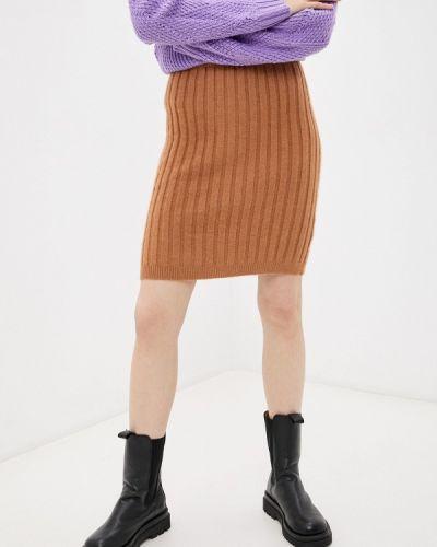 Зауженная юбка - коричневая By Swan