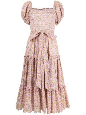 Хлопковое платье миди - розовое Loveshackfancy