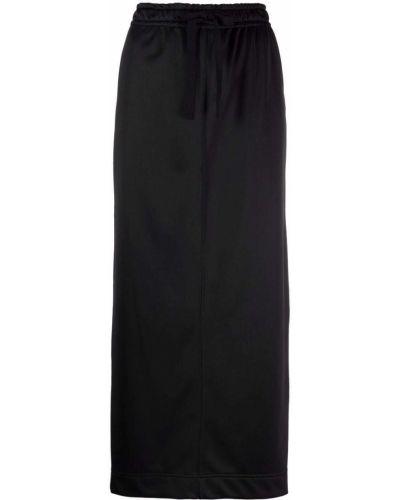 Юбка макси с карманами - черная Semicouture